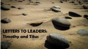 Letter to Leaders Sand and Rock
