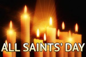 All Saints Day with Candles