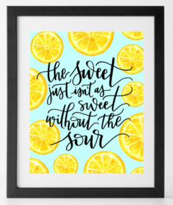 Sweet and Sour Print
