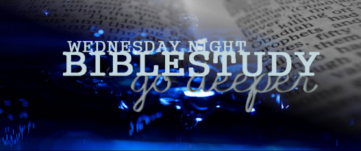 Wednesday Bible Studies