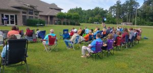 Outdoor Crowd at Church