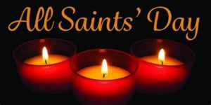 All Saints Day with 3 Candles