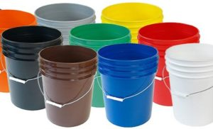 Colored Buckets 5 Gallon