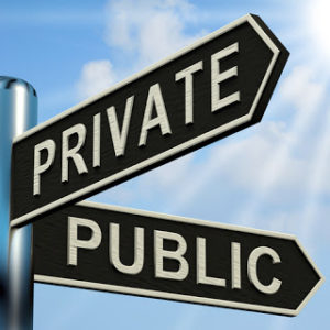 Private Public Sign